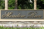 Meadow Run community sign