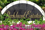 Parkland Estates community sign